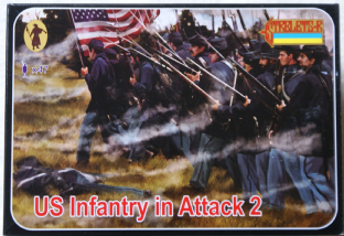 Strelets 1/72 ST0153 Union Infantry In Attack Set 2 (ACW)